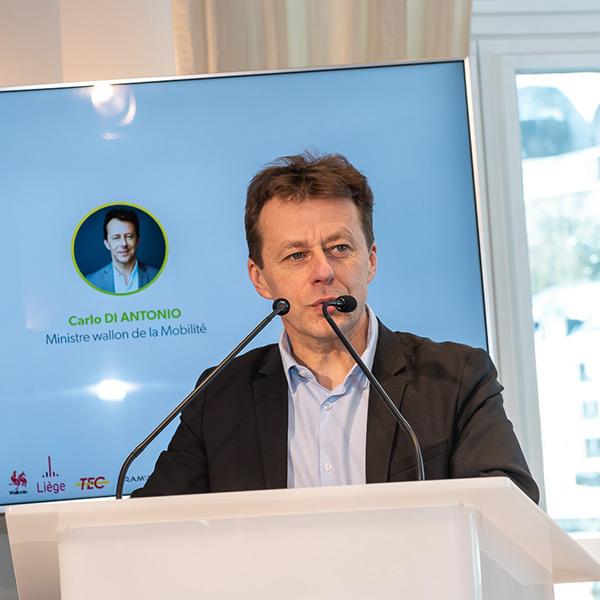 Carlo DI ANTONIO, Ministre wallon de la Mobilité et des Travaux publics